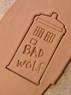 Doctor Who BAD WOLF Cookie or Fondant Stamp on Etsy, $8.75