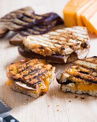 Eggplant Grilled Cheese Sandwich  Recipe on Food & Wine  -  Add these flavorful grilled eggplants to make a great vegetarian grilled cheese sandwich.   For the complete recipe, simply click on the photo.  ENJOY!