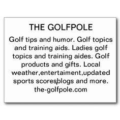 golfpole postcard