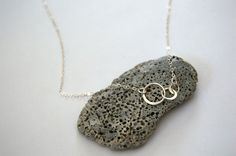 sterling silver three circle necklace small by SilverIrisJewelry