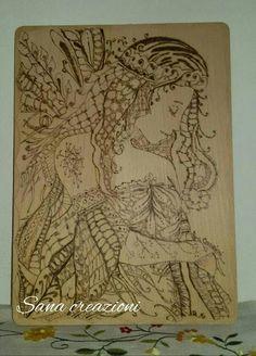 Quadro in legno pirografato  Realizzato a mano  HANDMADE  Sana creazioni facebook Page