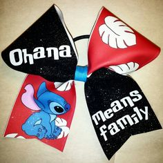 #ohanameansfamily cheer bow #blingonthebows  Www.facebook.com/blingonthebows