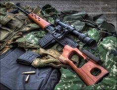 SVD Dragunov sniper rifle HDR (Russia)