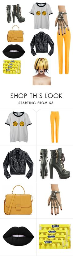 """""""Lemonjello"""" by paige777 ❤ liked on Polyvore featuring Chicnova Fashion, Victoria, Victoria Beckham, Bebe, Luichiny, Hot Topic, Lime Crime, men's fashion and menswear"""