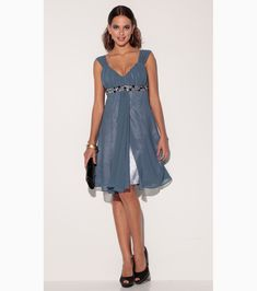 Vestido de fiesta con corte imperio y escote de corazón     http://www.divamos.com/Vestido-mujer-fiesta-escote-corazon-1448652.html