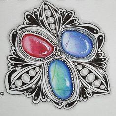 #zentangle #doodle #zentanglegems #makesomeart #meditativeart