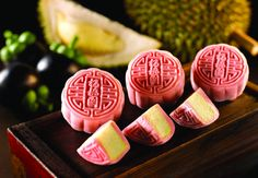 Imperial treasure mooncake with mangosteen rind and durian paste