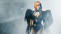 The Fame Monster, Lady Gaga Pictures, Black Costume, A Star Is Born, Hollywood Celebrities, Wearable Art, Photography Poses, Wonder Woman, Celebs