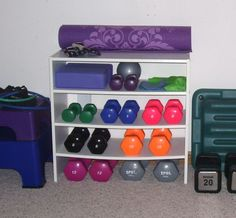 Ideas For Fitness Equipment Storage Workout Rooms Workout Room Home, Workout Rooms, At Home Workouts, Cardio Workouts, House Workout, Exercise Rooms, Basement Gym, Garage Gym, Basement Ideas