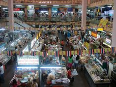 One of the main markets in Chiang Mai, Thailand. This brings back memories of my mother taking us on weekends to get our clothes tailored upstairs. I love the sights, sounds and yes, the smell of this market. Can't wait to go back for a visit! Photo by Sarah_Ackerman