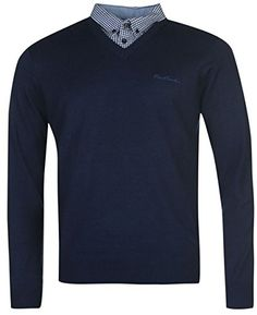 Mens Jumpers, Knitwear, Dark Blue, V Neck, Amazon, Long Sleeve, Sleeves, Mens Tops, T Shirt