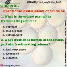 Write your answers in the comments below! Gcse Chemistry, Chemistry Teacher, Organic Chemistry, Fractional Distillation, Crude Oil, Middle Parts, Study Motivation, Fractions, Student