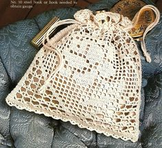 Victorian Crochet Purses Patterns | X684 Filet Crochet PATTERN ONLY Victorian Rose Purse Pattern