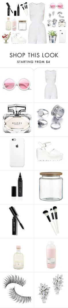 """Untitled #317"" by saracalado ❤ liked on Polyvore featuring ZeroUV, 3x1, Gucci, Opening Ceremony, CARGO, Crate and Barrel, Bobbi Brown Cosmetics, Dr. Vranjes, CO and Davines"