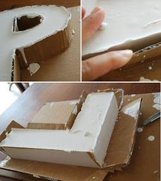 Plaster of Paris DIY letters Diy Projects To Try, Crafts To Make, Fun Crafts, Craft Projects, Arts And Crafts, Craft Ideas, Tube Carton, Diy Plaster, Ideias Diy