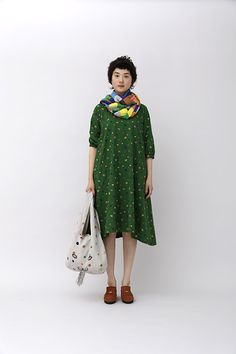 Mina Perhonen colors are wonderful Japanese Fashion, Asian Fashion, Fashion Beauty, Girl Fashion, Fashion Outfits, Womens Fashion, Hippy Chic, Street Style, Everyday Dresses