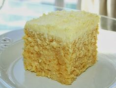 light sponge cake soaked in condensed milk and cream.