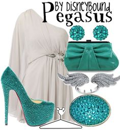 I ordinarily hate turquoise, but this would be really beautiful during the summer for a wedding or formal event of some sort.