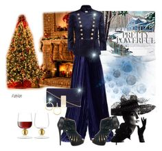"""""""Holiday Look #46"""" by flippintickledinc ❤ liked on Polyvore featuring Marco de Vincenzo, Pierre Balmain, Christian Louboutin, LSA International, Dorothy Perkins and Vita Fede"""
