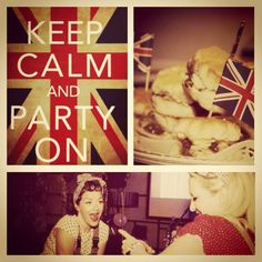 1940s Great British Party. I'm fed up with seeing Keep Calm posters but is would be very fitting in this instance...