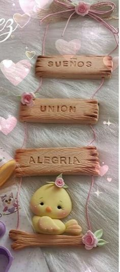 Polymer Clay Canes, Polymer Clay Necklace, Jar Crafts, Diy And Crafts, Clay Projects, Projects To Try, Name Plate Design, Baby Hair Bands, Hand Lettering Fonts