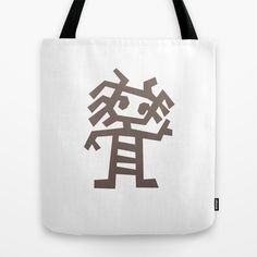 Rasta man Cave carving illustration Tote Bag by muchö - $22.00