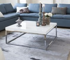 prairie square coffee table available in in white black or walnut - Inside75 Table Basse