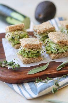 Mashed Avocado Finger Sandwiches | TheRoastedRoot.net #glutenfree #appetizer…