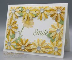 Tea and Stamps: DOswts 317 - Floating Frame Card. - Tea and Stamps: DOswts 317 – Floating Frame Card. Daisy Delight Stampin' Up, Stampin Up Anleitung, Album Scrapbook, Stamping Up Cards, Card Making Techniques, Pretty Cards, Card Sketches, Floating Frame, Flower Cards