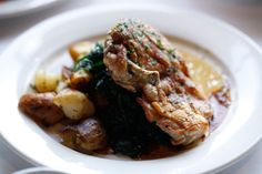 Roasted Chicken with Crispy Baked Potato - Long Valley Pub and Brewery - Long Valley - New Jersey - Devil Gourmet - www.DevilGourmet.com