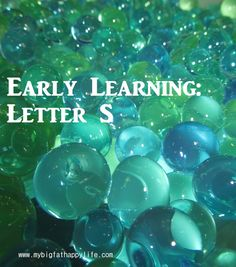Preschool / Early Learning: Letter S | mybigfathappylife.com