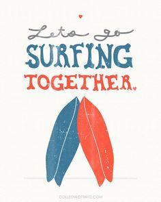 #Surfing together