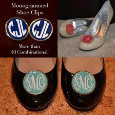 Custom Monogram Shoe Clips. $44.00, via Etsy.