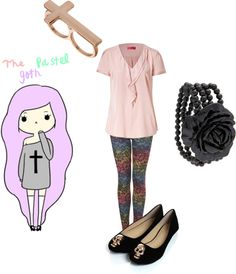 """""""The Pastel Goth"""" by emmzizleez888 ❤ liked on Polyvore"""