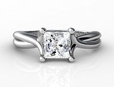 tcw Genuine Princess Cut Diamond Engagement Ring Solitaire Band Solid YG in Jewelry & Watches Solitaire Ring, Diamond Engagement Rings, Purple Jewelry, 3 Carat, Princess Cut Diamonds, White Gold, Things To Sell, Jewellery, Yellow