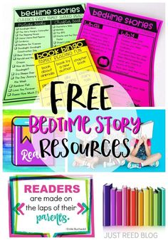 FREE printables to send home with parents at the end of school or for back to school.  Teach parents the importance of nightly bedtime stories and give them a list of classic chapter books and picture books that every child must read!
