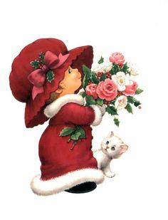 Little Girl In Her Winter Coat ¦ Ruth Morehead Christmas Clipart, Christmas Printables, Christmas Pictures, Christmas Angels, Christmas Art, Vintage Christmas, Xmas, Clipart Baby, Sarah Kay