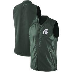 7e624ea69a4148 Michigan State Spartans Nike Hyper Elite Game 2.0 Full-Zip Peformance Vest  - Green