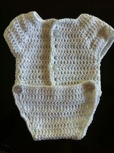 Crochet Baby Preemie Onesie - Free Pattern | Not My Nana's Crochet!