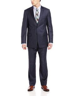 Tommy Hilfiger Men's Trim Fit 2 Button Side Vent Notch Lapel Nathan Suit,  Blue Sharkskin, 44 R Tommy Hilfiger,http://www.amazon.com/dp/B00FASNOYQ/ref=cm_sw_r_pi_dp_2qDQsb0A6TPCR1DY