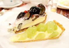 Two types of grape tart from Quil-fait-bon