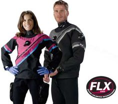 FLX50/50 - DUI Online - drysuits - just ordered mine, all black with silver piping, Tec boots, zipper side pockets, interchangeable neck seals, and all the cold water diving I can handle!
