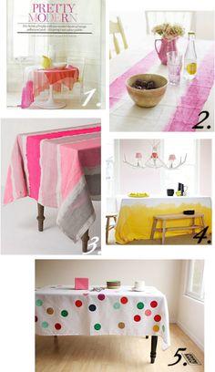 DIY Anthropologie Tablecloth