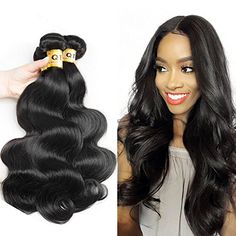 QTHAIR 10A Grade Brazilian Virgin Hair 3 Bundles Body Wave 100 Human Hair Extension Brazilian Hair Weaves 16 18 18 Natural Color 300g *** Click on the image for additional details.