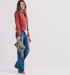 Veste en cuir Femme rouge - Promod