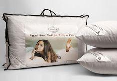 1//2//3//4X Egyptian Pillow Luxury Cotton Comfort Hotel Quality Hollow Fibre White