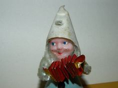 Vintage Christmas Accordion Bearded Elves Pixie by TheIDconnection, $10.00