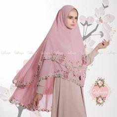 Khimar Nayyira by Qalisya Kerudung Syari Bordir 2 Layer Cerruti Babydoll No 9 Moslem Fashion, Niqab Fashion, Fashion Outfits, Womens Fashion, Abaya Designs, Muslim Dress, Hijab Styles, Islamic Clothing, Dresses Kids Girl