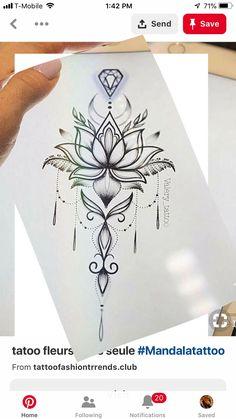 Außergewöhnlich Tattoo-Zeichnungen – tattoos for women meaningful Mandala Tattoo Design, Flower Tattoo Designs, Designs Mehndi, Lotus Mandala Tattoo, Mandala Art, Henna Mandala, Lotus Flower Tattoos, Lotus Mandala Design, Spine Tattoos