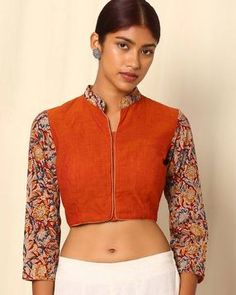 Kalamkari Print Cotton Blouse